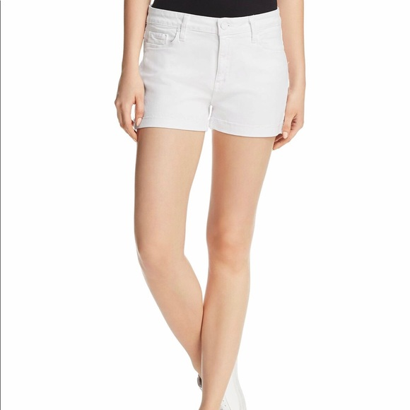 PAIGE Pants - Paige The Hailey Cuffed White Denim Shorts P44